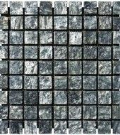 MS International 1 in. x 1 in. Ostrich Grey Tumbled Square Pattern Mesh-Mounted Quartzite Mosaic Tiles