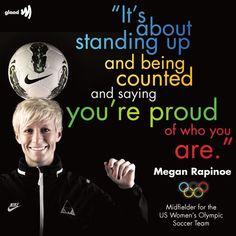 Megan Rapinoe, out midfielder for the U.S. Women's Olympics Soccer Team