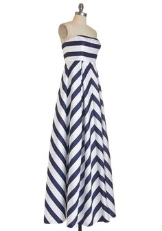 The Ultimate Nautical Gown - Hoping there are pockets!!