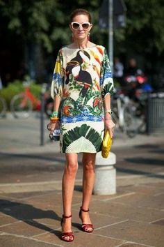 Tropical Print: como usar. Copie os looks.