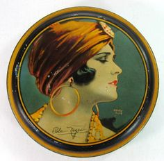 Pola Negri Canco Beautebox Tin by Henry Clive Art Deco 1920'S | eBay