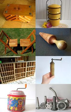 Our folding maple chairs were featured in this treasury! - pinned with TreasuryPin.com