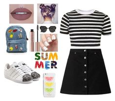 """*_*"" by yesgodoi ❤ liked on Polyvore featuring Miss Selfridge, Topshop, adidas Originals, Fendi and Kate Spade"