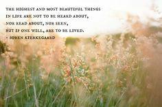 the highest and most beautiful :: soren kierkegaard
