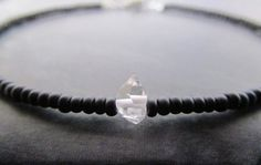 herkimer diamond stack bracelet herkimer diamond by earthwatersol, $25.00