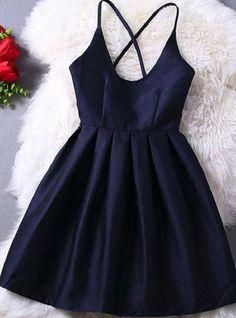 Simple A-line Spaghetti Strap Taffeta Homecoming Dresses,Braces prom dress,Short dress