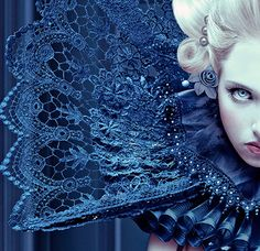 ruff gothic image, gothic, queen costume look, blue Fantasy Costumes, The Villain, Dark Beauty, Costume Design, Shades Of Blue, Favorite Color, Fashion Photography, Creepy Photography, Dark Photography