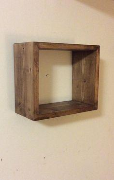 Rectangular Geometric Shelf Floating rectangle by SheltonWoodworks