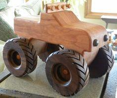 Monster Toy Wooden Truck Handmade by grandpacharlieswkshp on Etsy by carter flynn
