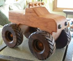 Monster Toy Wooden Truck -- Handmade Keepsake. $49,00, via Etsy. Shop= grandpacharlieswkshp