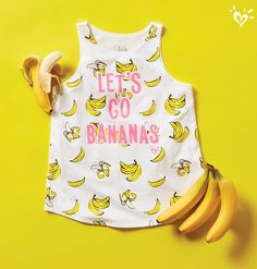 She'll go bananas for these whimsical prints. Beach Day Outfits, Cute Summer Outfits, Dance Outfits, Outfits For Teens, New Outfits, Cool Outfits, Justice Clothing, Justice Shirts, Preteen Fashion