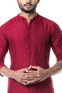 Online Fashion Store| Designer Clothing -Smritiapparels.com. Maroon Cowl Kurta with Grey Churidar.