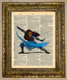 Avatar: The Last Airbender Dictionary Art Katara. $5.00, via Etsy.