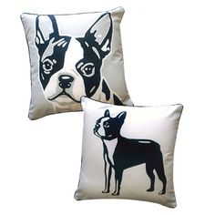 Terriers Found it at Wayfair - Doggie Style Reversible Boston Terrier Pillow - You'll love the Doggie Style Reversible Boston Terrier Cotton Throw Pillow at Wayfair - Great Deals on all Décor Boston Terriers, Boston Terrier Temperament, Boston Terrier Love, Terrier Breeds, Terrier Puppies, Modern Throw Pillows, Decorative Pillows, English Terrier, Joss And Main