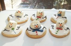These poor little Sugar Cookie Snowmen rested a little too close to the bon fire!