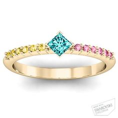 Mother's ring idea......use a diamond from husband with two colors