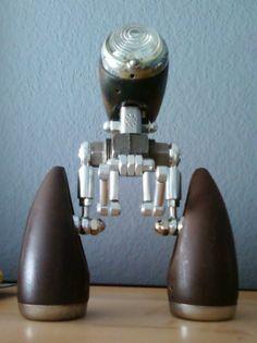 Jason Rahn.  Found object robot