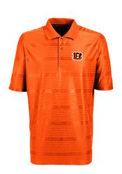 Antigua Cincinnati Mens Orange Illusion Short Sleeve Polo Shirt