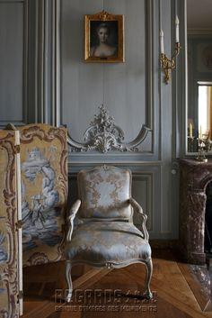 Château de La Motte-Tilly, salon bleu