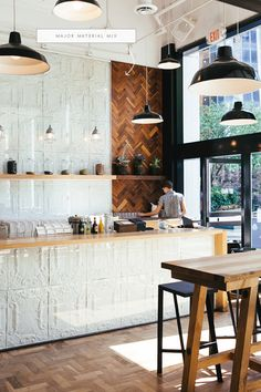 painted tin tiles love the use of tin tiles here the contrast between the warm wood and white wash finish of the metal tiles really brings this room to