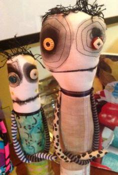 Monster dolls closeup
