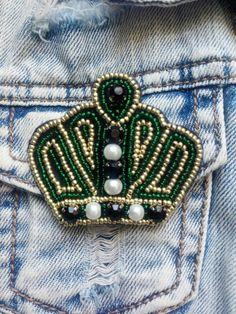 брошь  Корона  из бисера купить Киев, Украина
