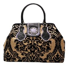 Raviani Western Leather Handbag Tapestry Tote Purse Swarvoski Crystals Bag  - USA  Raviani  TotesShoppers 66bb92a575489