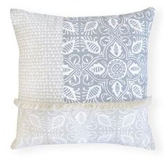 Edi Grey Patch Cushion