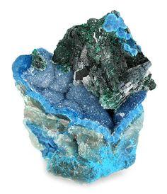 Malachite on Quartz from Namibia