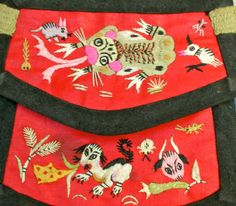 Chinese coin purse by AnnRidgeMagicStitch on Etsy