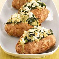 Baked Potatoes Florentine  Delicious 350 calorie meals