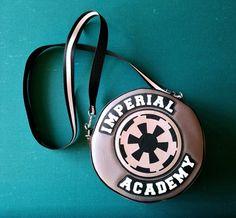 Star Wars Imperial Academy handbag made by Etsy seller BenaeQuee Creations ⭐️The Kessel Runway ⭐️ Star Wars fashion ⭐️ Geek Fashion ⭐️ Star Wars Style ⭐️ Geek Chic ⭐️