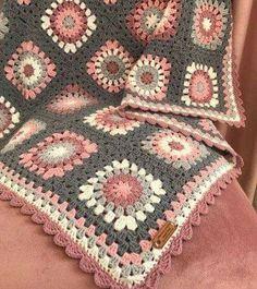 65 Ideas Crochet Granny Square Motif Baby Blankets For 2019 Granny Square Crochet Pattern, Afghan Crochet Patterns, Crochet Squares, Crochet Granny, Crochet Motif, Crochet Designs, Crochet Baby, Knitting Patterns, Blanket Crochet