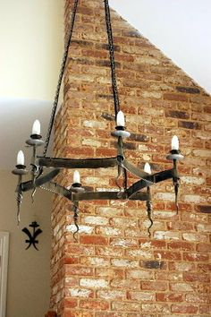 Hand forged chandelier by ColdHanworthForge on Etsy, £400.00