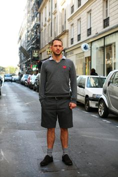 On the Street....Fall Shorts, Paris.....The Sartorialist