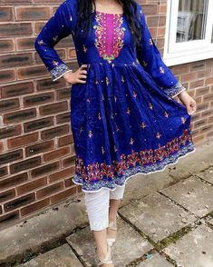 Blue love 💙 Pakistani Couture, Pakistani Dress Design, Pakistani Outfits, Indian Outfits, Stylish Dresses, Simple Dresses, Casual Dresses, Fashion Dresses, Afghan Clothes