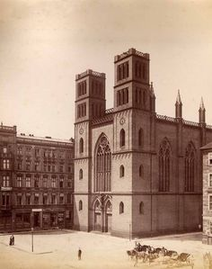 um 1885 Berlin - Friedrichwerdersche Kirche am Werderschen Markt, (Fotografie: Schwartz, F. Albert)
