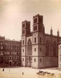 Die Friedrich-Werdersche Kirche am Werderschen Markt,  Fotografie, Schwartz, F. Albert,  Berlin, um 1885