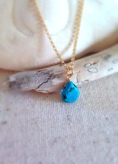 Hello Summer Sale Turquoise and Gold Necklace by Aina Kai ~ Etsy