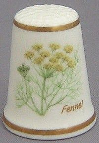 Royal Grafton Thimble - Flowers of the Poets Collection - Fennel