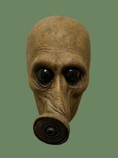 Jordu Schell / Schell Sculpture Studios - Gas Mask by Aeron Alfrey, via Flickr