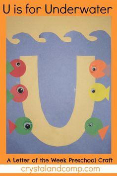 letter of the week preschool craft u is for underwater