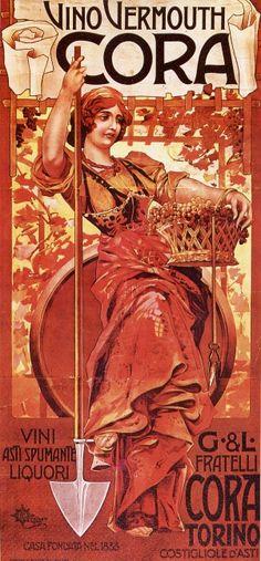 Vintage Italian Posters ~ Vino Cora