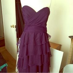 Deep purple bridesmaids dress Beautiful purple bridesmaids dress. Bought for a wedding, only worn once! Size can fit a regular 12 or 14. impression bridals  Dresses