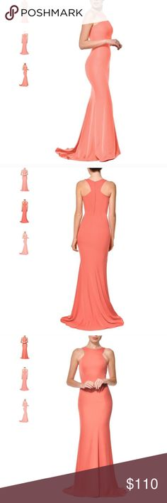 New Nadine Merabi Coral Amie Gown Gorgeous New Nadine Merabi Coral Amie Gown. Size small, fits 0-2 the best. Gorgeous coral color. Beautiful train in the back. Stunning, show stopping dress! Get this bargain before it's gone! Tagged as Jovani for views! Jovani Dresses Maxi