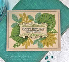 Leafy Birthday Card by Dawn McVey for Papertrey Ink (February 2014)