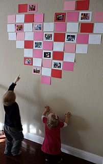 Wall of Love this is cute! Post pictures and on the blank papers have everyone in the family write 'love letters' to other members of the family.