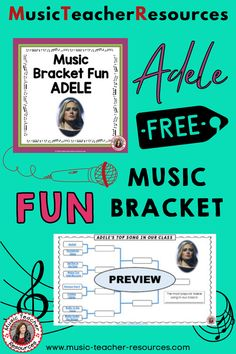 This bracket is perfect for March Madness or anytime your class needs a fun break. Use it as a bell ringer to give you time to take attendance, pass out materials or briefly catch up with students who have been absent. Use it in the last 5-6 minutes of class as motivation for students to complete all set work. To save time, I play only a section of each song, not the entire song. ♫ ♫ #mtr #musicteacher #musiced #musiceducation Music Teacher Resources