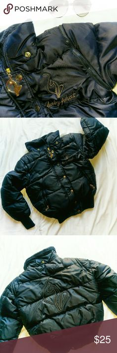 Baby Phat goose down jacket *Price Negotiable *No Trades  Almost new convertible down jacket from Baby Phat in size XS. All nylon shell with 60% goose down and 40% water fowl feathers. Sleeves can be unzipped to wear as a vest! Zipper and snap closure to keep tight and warm. EUC  {10% off bundles of 2+ listings} Baby Phat Jackets & Coats Puffers