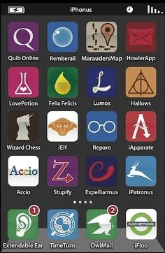 Harry Potter's iPhone. Could make these for any character in literature -- cool!!